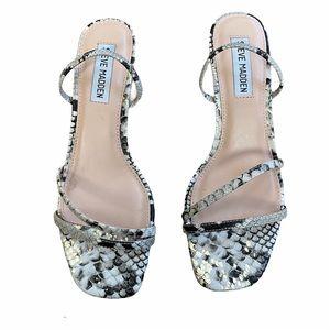Steve Madden Loft Snake Strappy Square Toe Sandals